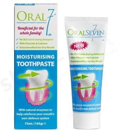 Oral7 Oral7 nawilżająca pasta do zębów z fluorem 75ml