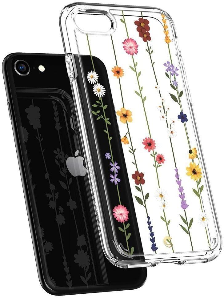 Spigen Etui Ciel iPhone SE 2020, 8/7, kolorowe kwiaty 8809685629115