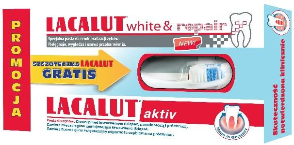 Natur Produkt Pasta do zębów White&Repair 75ml + pasta do zębów Aktiv 75ml + szczoteczka do zębów White 756765