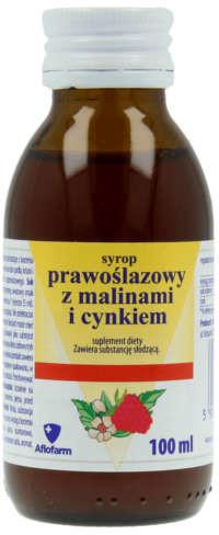 Aflofarm SYROP PRAWOŚLAZOWY z malinami i cynkiem syrop bez cukru 100 ml