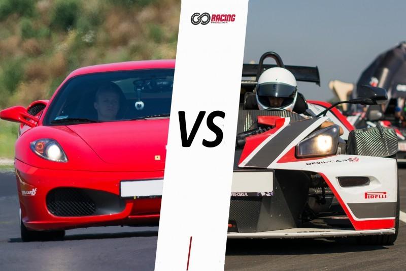 go racing Jazda Ferrari F430 vs KTM X-Bow : Ilość okrążeń - 2, Tor - Tor Łódź, Usiądziesz jako - Kierowca