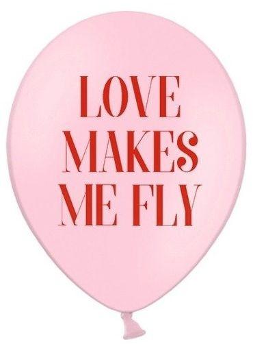 Partydeco Balony Love makes me fly różowe 30cm 5 sztuk SB14P-277-081J-5x SB14P-277-081J-5x