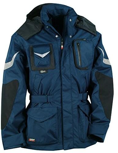 Cofra S.r.l. Cofra ICESTORM V006 kurtka zimowa typu parka, kurtka przeciwdeszczowa z podpinką i cordurą, niebieski V006-0-02.Z46