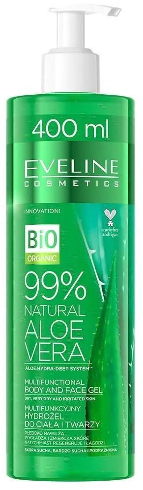 Eveline Eveline Bio Organic Natural Aloe Vera 400ml multifunkcyjny hydrożel do twarzy i ciała
