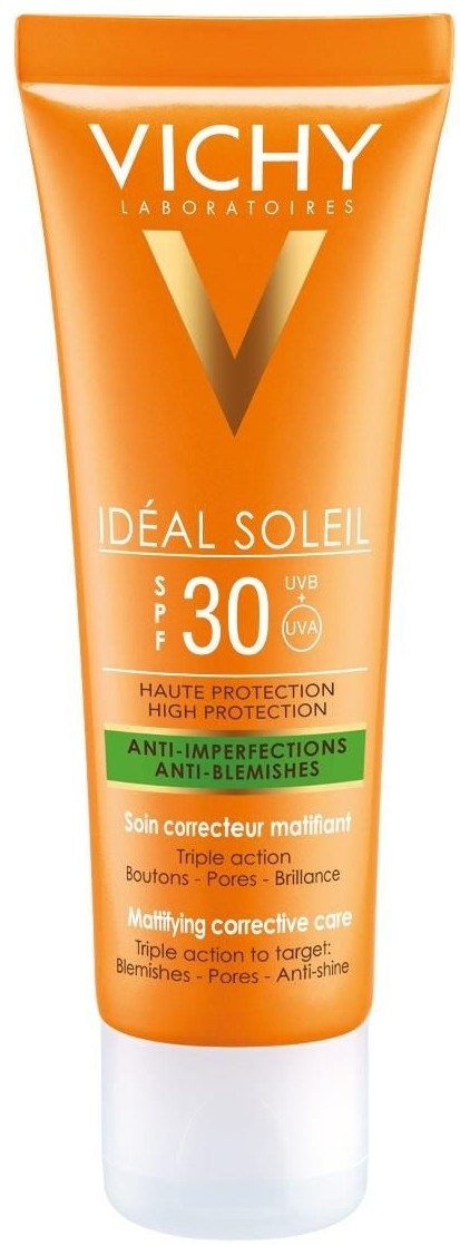 Vichy Capital Soleil Capital Soleil emulsja do opalania twarzy SPF 30 Face Emulsion Dry Touch Skin Cell Sun Protection) 50 ml