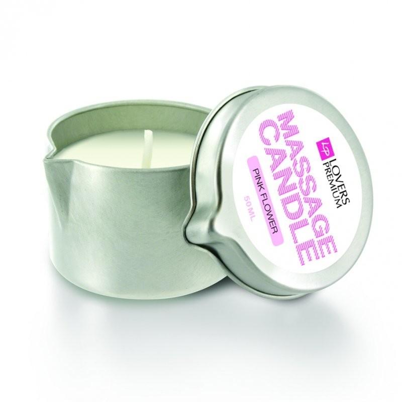Lovers Premium Świeca do masażu - zapach Różowe Kwiaty