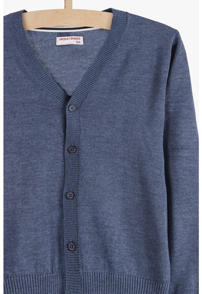 Lincoln & Sharks by 5.10.15. Sweterek dla chłopca - niebieski 2C3901 2C3901 SAM  134