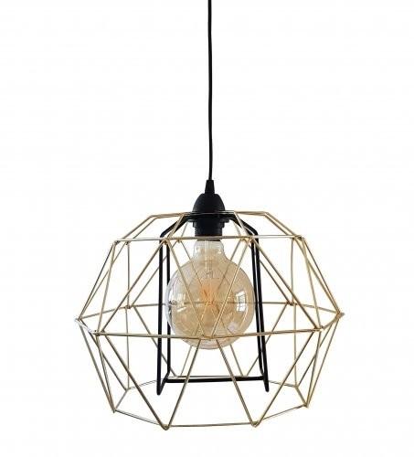 Solar Lampa loft KARO złoto-czarna duży diament nr kat. 0919 0919