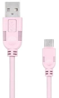 EXC Kabel USB 2.0 eXc WHIPPY USB A M micro USB B M 5-pin 2m jasny różowy KKE0KKBU05M0