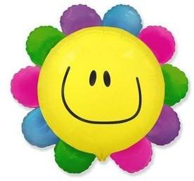FLX Balon foliowy Kolorowy kwiatek 62 cm 1 szt 901549