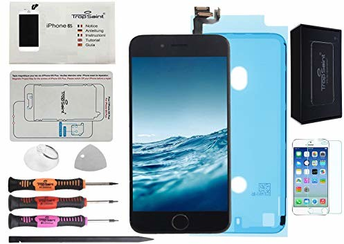 Trop Saint Trop Saint Kompletny czarny wyświetlacz LCD do iPhone 6S z magnetyczną kartą śrubową, instrukcją obsługi (może nie być dostępna w języku polskim), narzędzia i uszczelnienie wodoszczelne BZ020