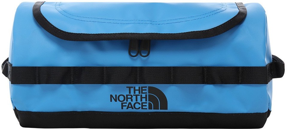The North Face Duża kosmetyczka North Face Base Camp Travel Canister L - clear lake blue / tnf black NF00A6SRME91