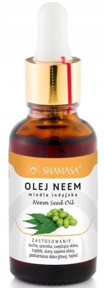 Shamasa 100% Olej Neem sucha trądzik 30ml