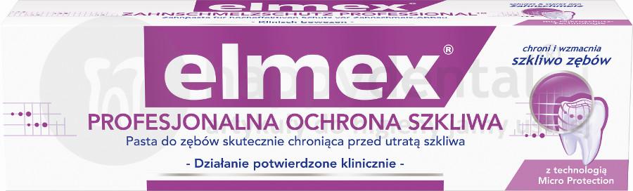 Gaba ELMEX Profesjonalna Ochrona Szkliwa 75ml - pasta do zębów skutecznie chroniąca przed utratą szkliwa