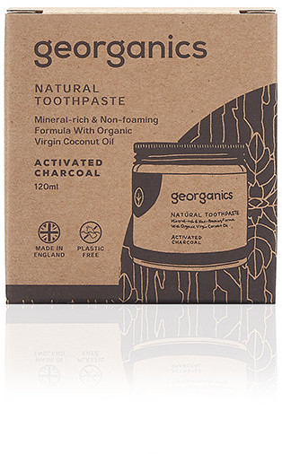 Georganics Georganics, mineralna pasta do zębów w słoiku Activated Charcoal, 60 ml