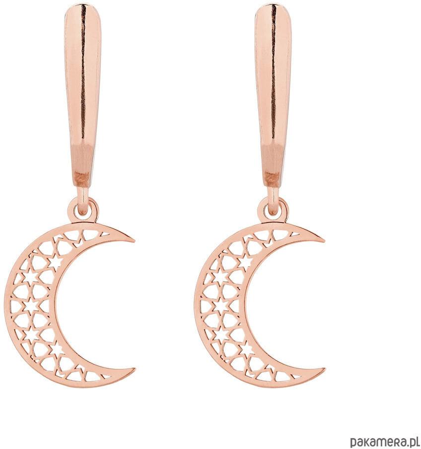 Kolczyki z różowego złota z księżycami