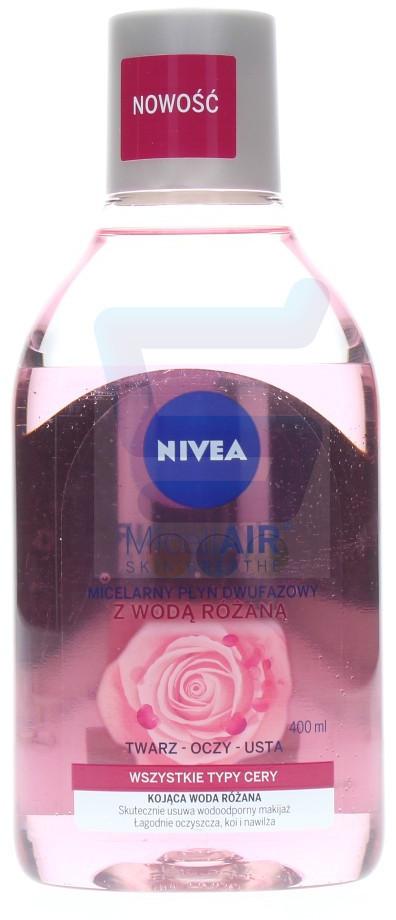 Nivea MicellAir Micelarny płyn dwufazowy do demakijażu z wodą różaną 400 ml