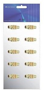 OMNITRONIC RCA socket/RCA socket,mono,metal/10 pcs 3022620M