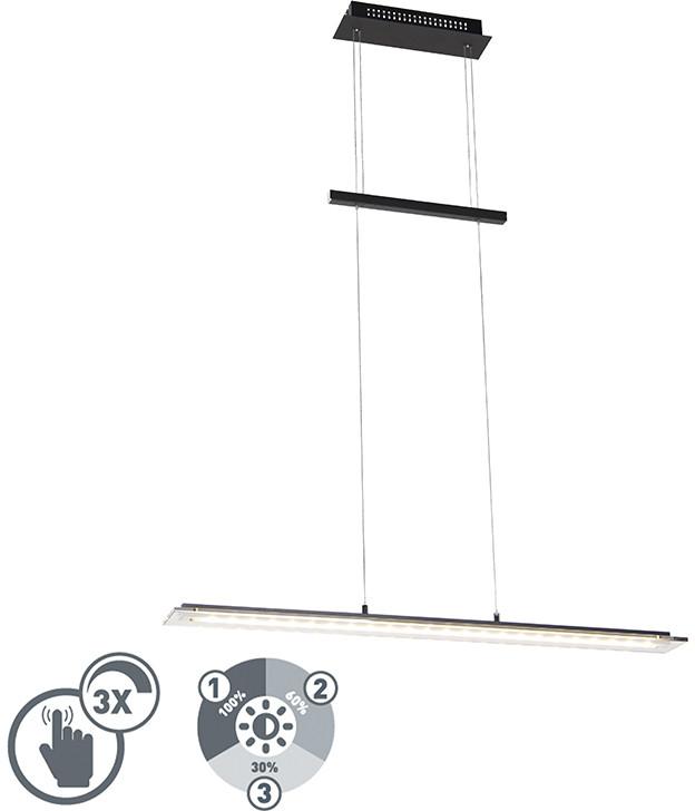 Honsel Designerska lampa wisząca czarna 88 cm, 3 stopnie ściemniania, w tym LED - Cavolo 99187