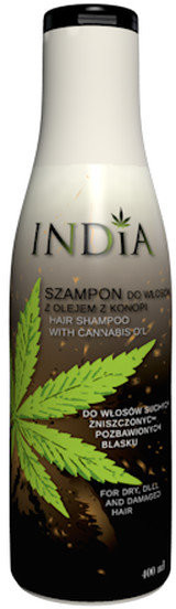 India Cosmetics INDIA szampon do włosów z olejem z konopi 400 ml