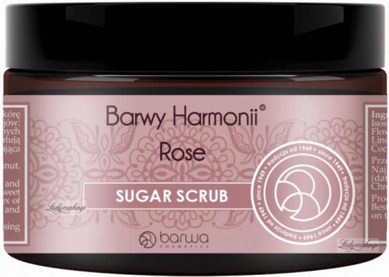 Barwa Siarkowa BARWY HARMONII - SUGAR SCRUB - Rose - Cukrowy scrub - 250 ml BARHSCCRO