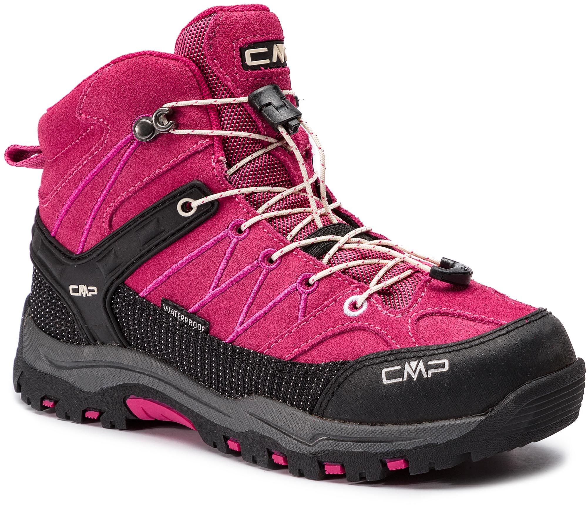 a4c3f504 CMP Trekkingi Kids Rigel Mid Trekking Shoes Wp 3Q12944J Geraneo/Off White