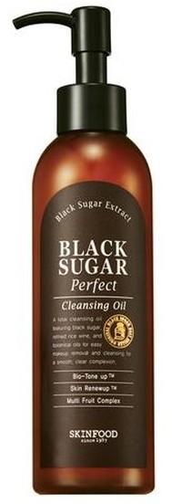 Skinfood Skinfood Black Sugar Perfect Cleansing Oil olejek do demakijażu z nierafinowanym cukrem trzcinowym 200ml