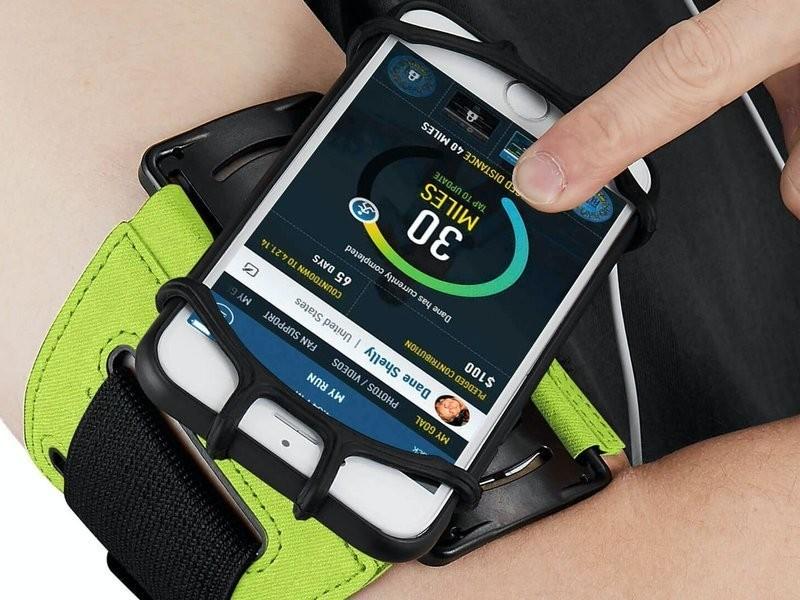 VUP+ Etui opaska sportowa armband VUP+ na ramię do telefonu Zielone 8158X8