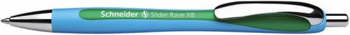 Schneider Długopis automatyczny Slider Rave, XB, zielony SR132504