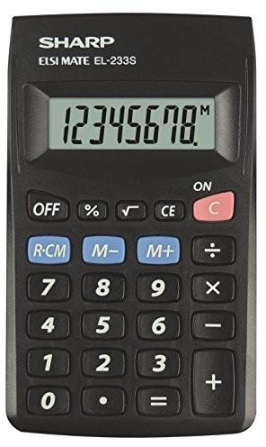 SHARP Sharp el233sbbk kalkulator, czarny SPI105562