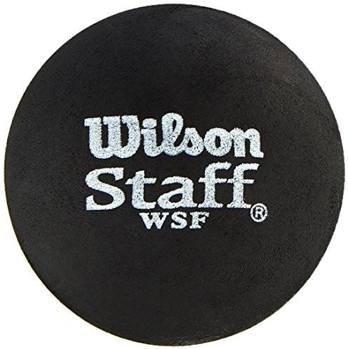 Wilson rakieta do squasha-ball, 2 sztuki, średniej prędkości, dla początkujących, czerwona kropka, Staff Premium Single Red Dot, wrt61 7700, czarny WRT617700