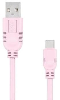 EXC Kabel USB 2.0 eXc WHIPPY USB A M USB 3.1 TYPU C M 5-pin 2m jasny różowy KKE0KKBU0600