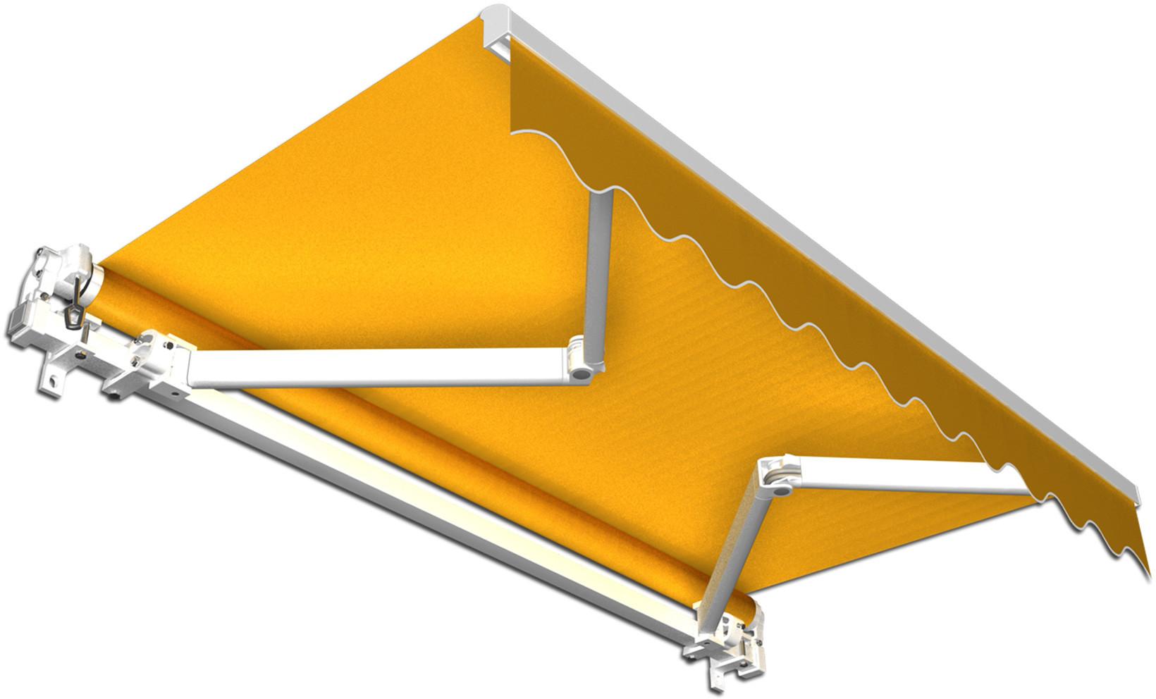 Jarolift Markiza Tarasowa Gotowa Basic, żółta, 350x300 cm