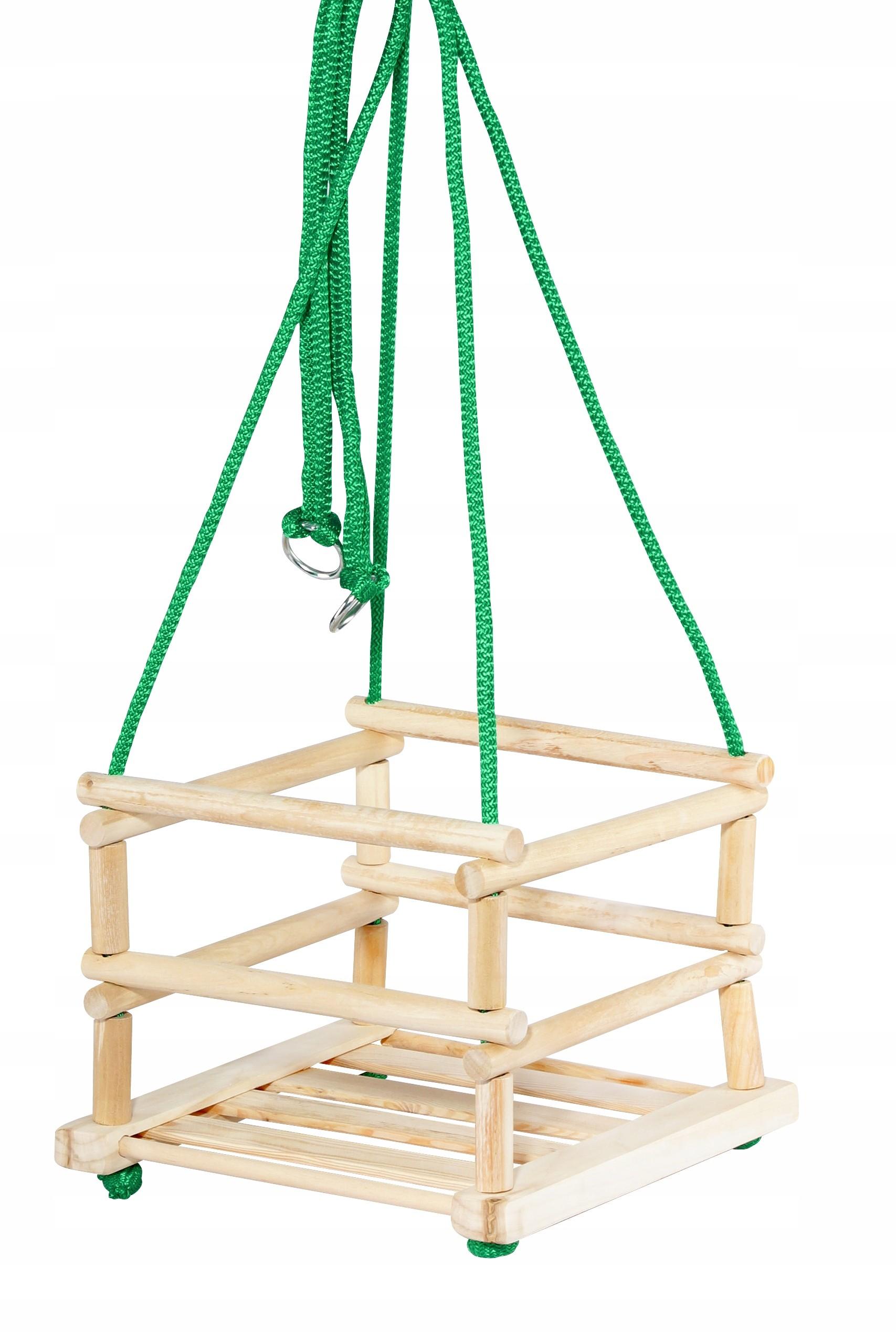 Duża Huśtawka Drewniana Dla Dzieci