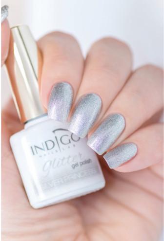 Indigo Indigo Silver Princess Glitter Gel Polish 7ml INDI338