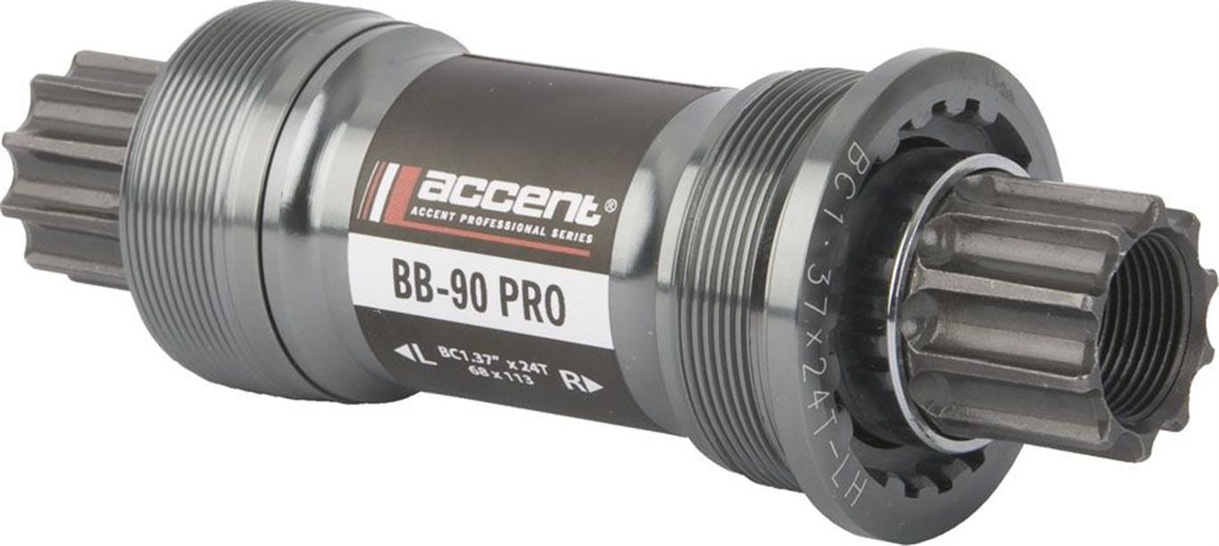 ACCENT Wkład suportu BB-90 PRO czarny-srebrny / Rozmiar: 68 x 118 mm / Typ: BSA