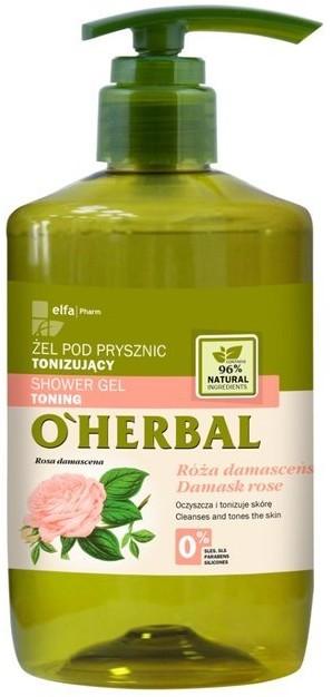 Green Pharmacy Pharm OHerbal Tonizujący żel pod prysznic z ekstraktem z róży damasceńskiej 750ml 1234621851