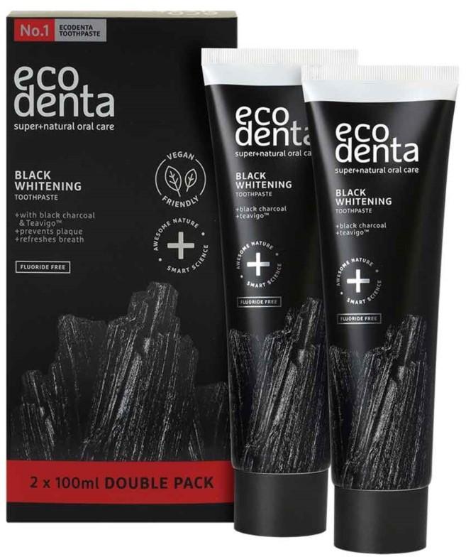 Ecodenta Czarna pasta Double Pack 2x100ml EUR4241