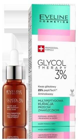 Eveline Glycol Therapy 3% Multipeptydowa Kuracja przeciw zmarszczkom 18ml