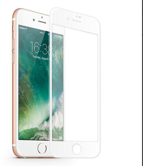 KMP Szkło ochronne do iPhone 8 Plus White biały) 1417666002