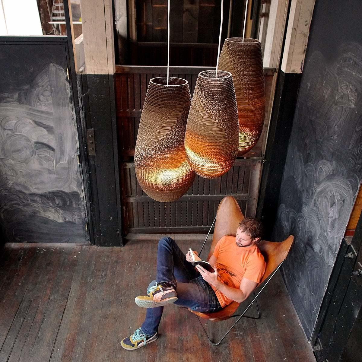Graypants Drop kartonowa lampa wisząca 36 cm