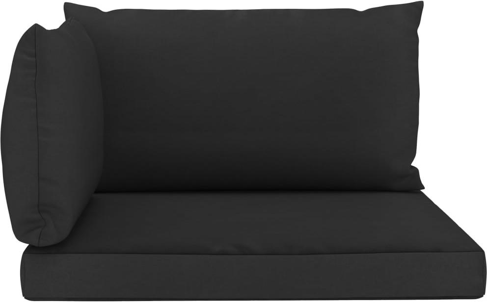 vidaXL Poduszki na sofę z palet, 3 szt., czarne, tkanina vidaXL