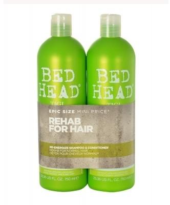 Tigi Bed Head Re-Energize zestaw 750 ml 750ml Bed Head Re-Energize Shampoo + 750ml Bed Head Re-Energize Conditioner dla kobiet