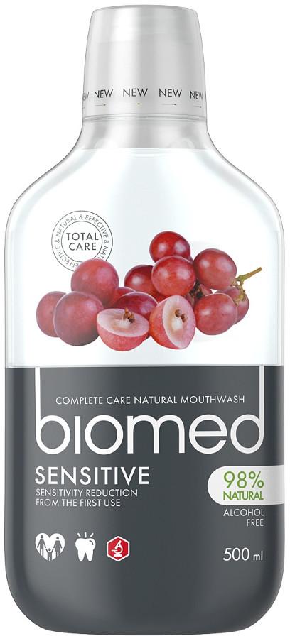 Splat Kosmetica BIOMED Sensitive 500ml - płyn do płukania jamy ustnej z naturalnym wyciągiem z pestek winogron