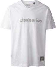 SteelSeries Koszulka SteelSeries męska biała serek rozmiar L