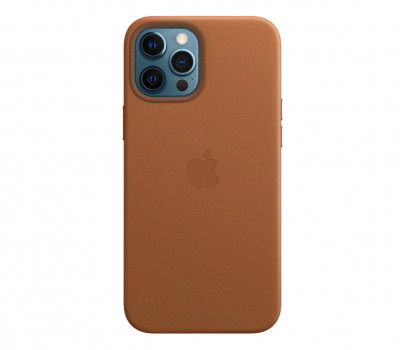 Apple Skórzane etui iPhone 12 Pro Max naturalny brąz