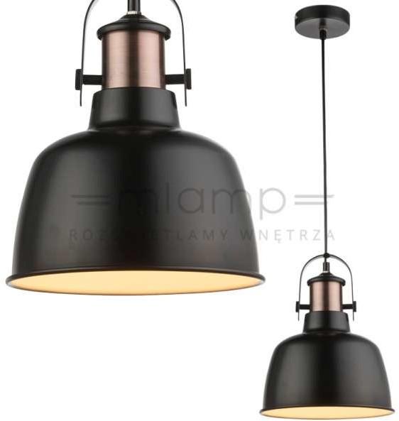 Globo Lighting LAMPA wisząca KUTUM 15284 industrialna OPRAWA zwis loft czarny 15284