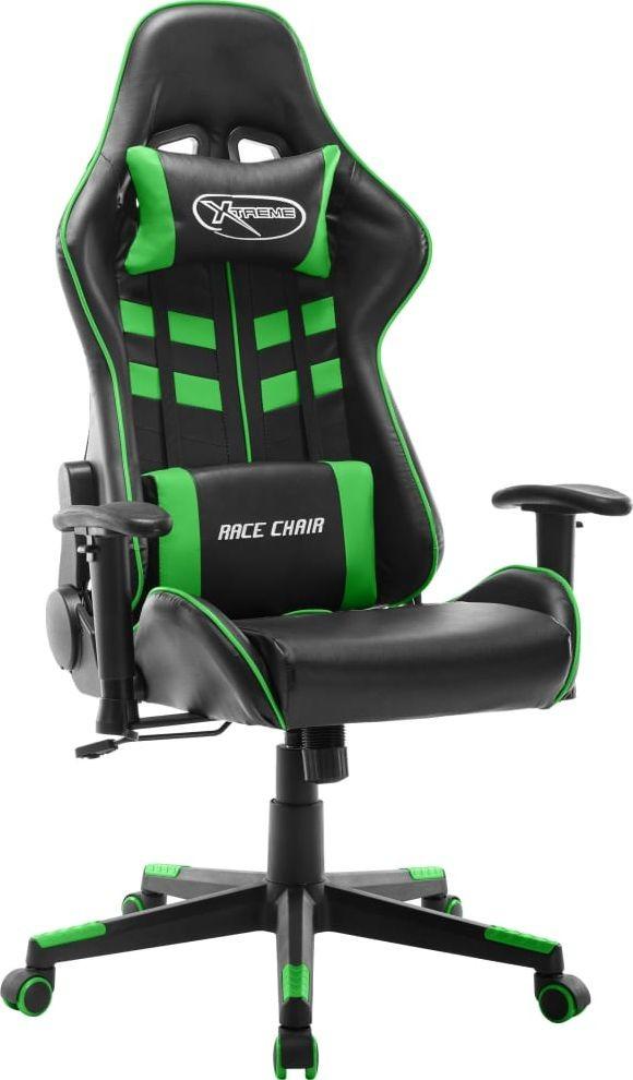 vidaXL Lumarko Fotel dla gracza, czarno-zielony, sztuczna skóra 20505