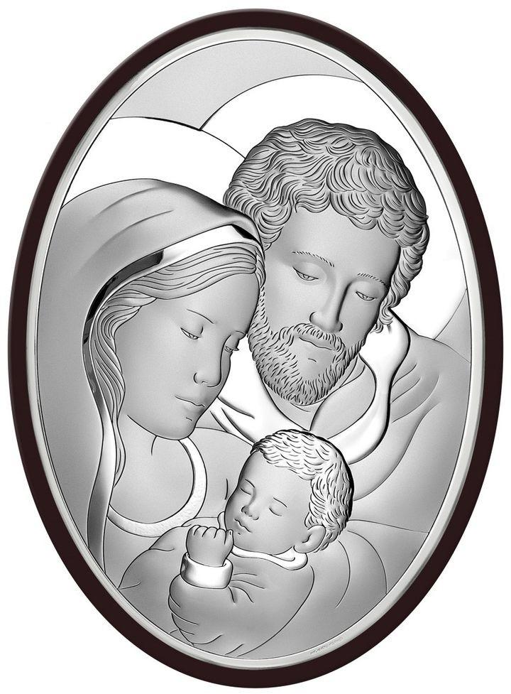 Beltrami Obrazek Święta Rodzina na ciemnym drewnie   Rozmiar: 39x53 cm   SKU: BC6555/7XWM