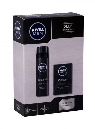 Nivea Men Deep Comfort zestaw Woda po goleniu 100 ml + Pianka do golenia 200 ml dla mężczyzn